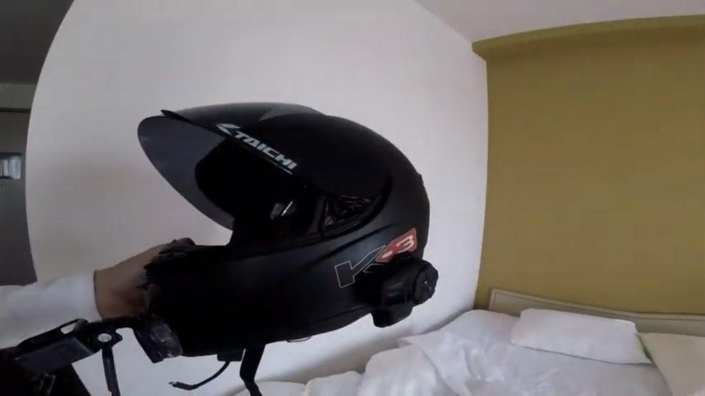 ヘルメットとsena10s
